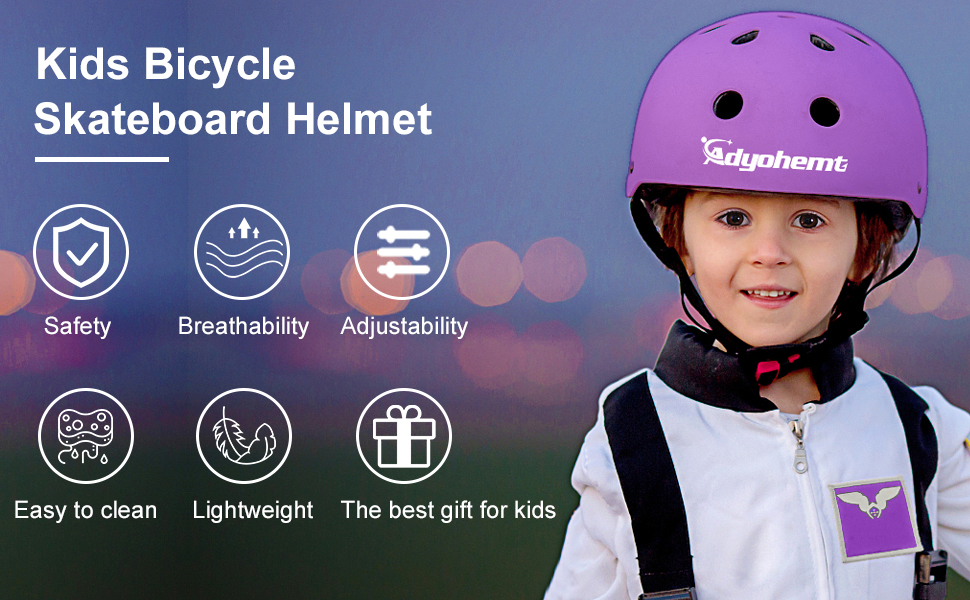 adyohemt kids bike helmet