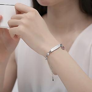mnmoom heart medical id bracelet