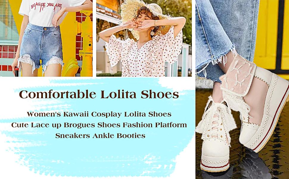 lolita lace shoes