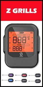 Z GRILLS BBQ ACCESSORIES Digital Wireless Meat Thermometer 6 Probes Food BBQ Temper Bluetooth