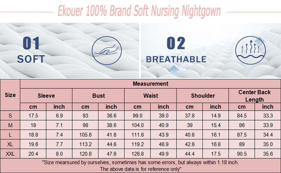soft nursing nightgown