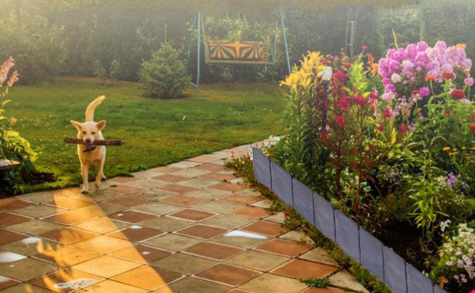 Portland Mall IEVEY 20PCS Garden Landscape Edging for Beds Flower ...
