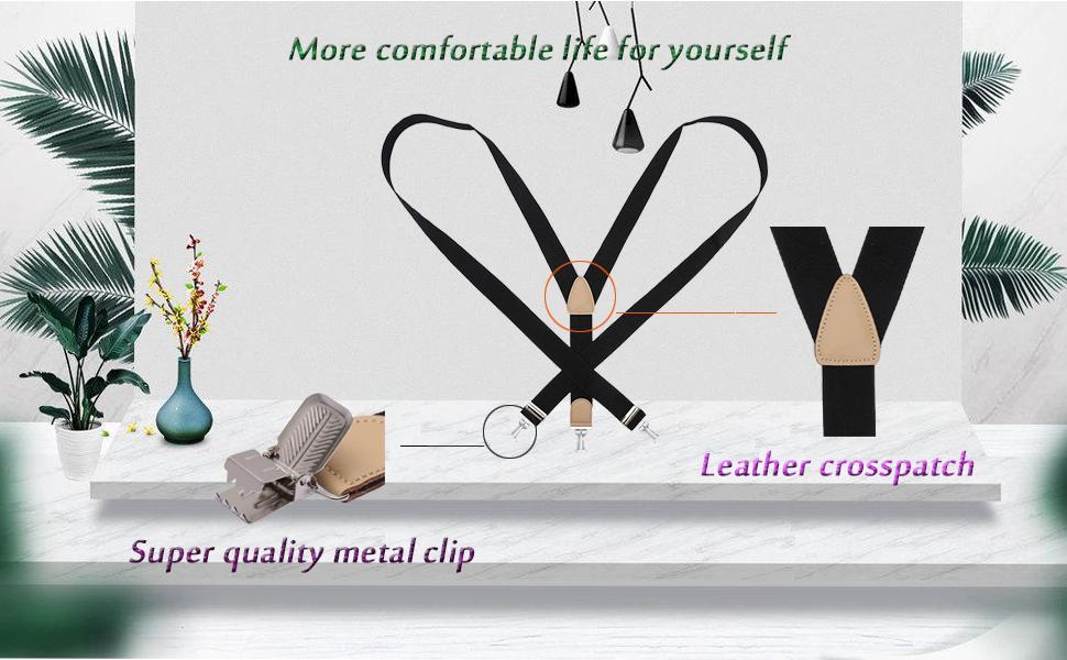 heavy duty suspenders for men