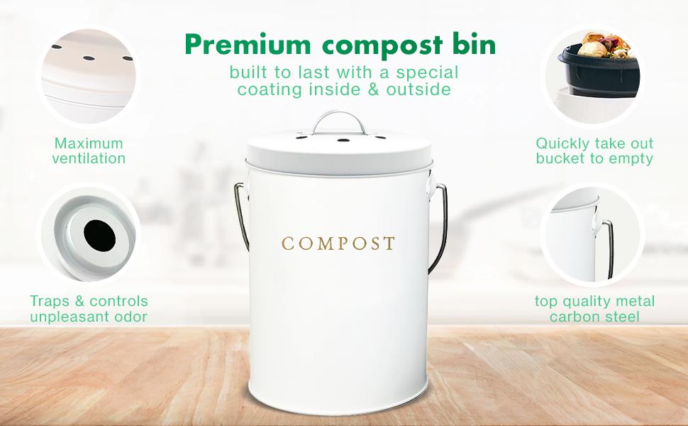 compost bin compost bin kitchen kitchen compost bin countertop compost bin with lid