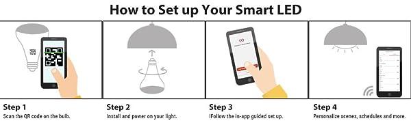 set up smart light bulb