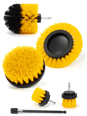 AstroAI 6 Pack Cleaning Brush for Drill Attachment Kit for Sink, Bathtub, Gas Stove, Console