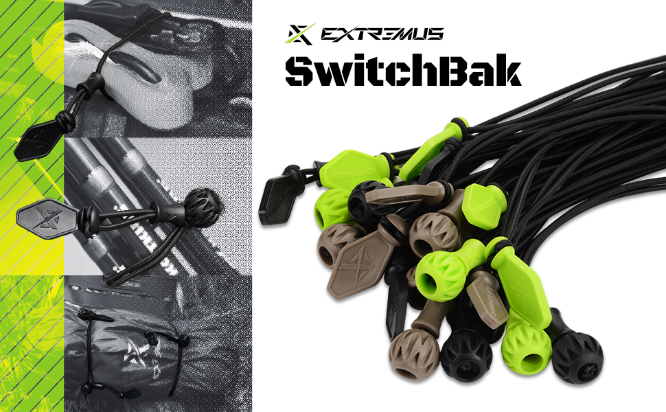 Extremus SwitchBak Tie-down Bungee System, Multi-Use Organizing Tool