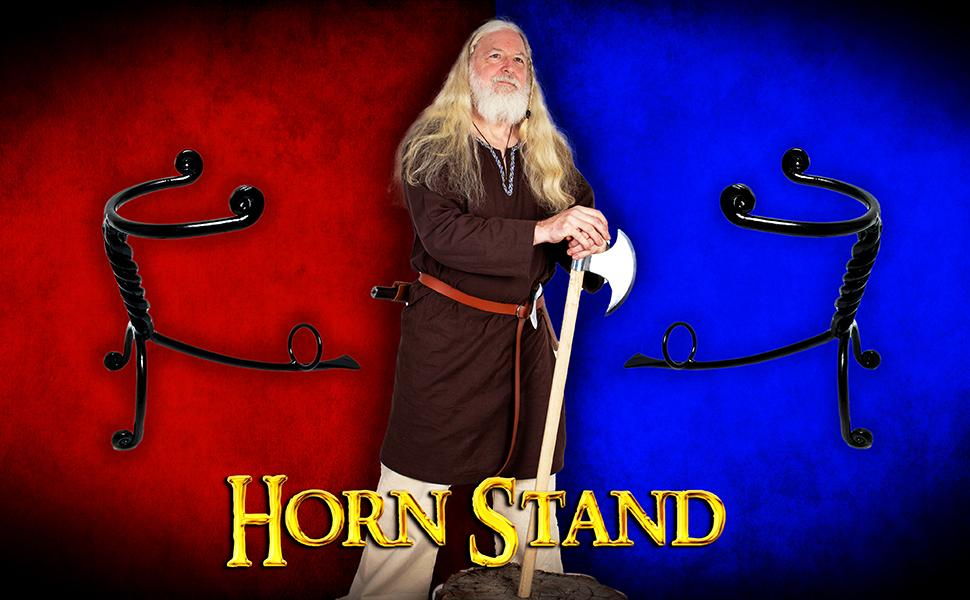 Horn stand SCA reenactment medieval midival rohan knight viking norse drinking horn horns