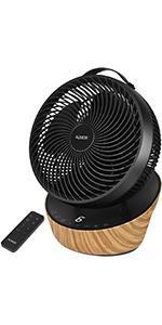 4UMOR ventilateur turbo ultra silencieux noir