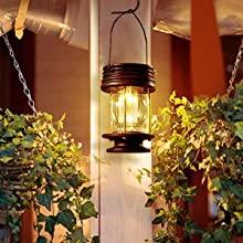 Solar lantern on the wall
