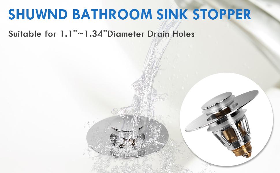 SHUWND New Upgraded Pop-Up Bathroom Sink Stopper