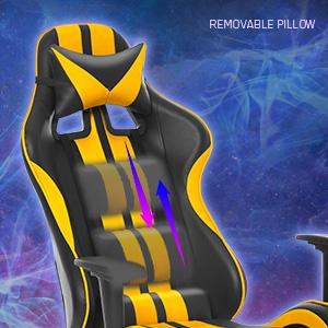 ferghana gaming chair with footrest massage gaming chair office chair video gaming chair