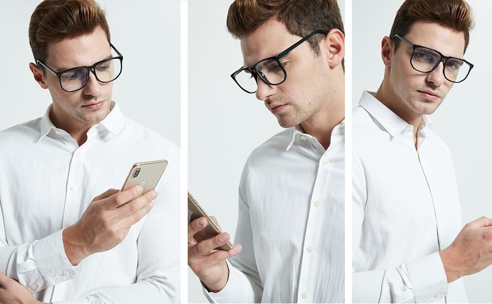large frame blue light glasses men soccer goggles