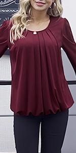 women long sleeve blouse tops for work