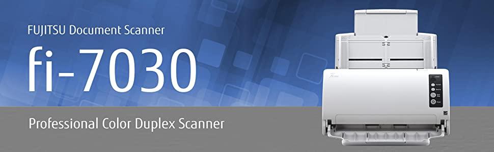 Fujitsu Document Scanner fi-7030 - Professional Color Duplex Scanner