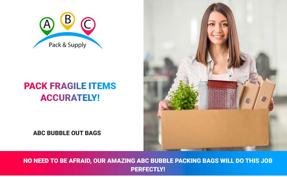 ABC Bubble Out Bags Packing Fragile Bubble Cushion Bubble Wrap for Frames Duck BubbleWrap Fragile