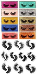 salon perfect lashes 20mm mink lashes volume lashes short mink lashes pack of lashes