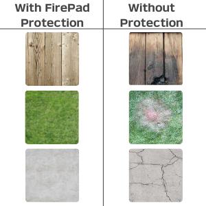 burns damage firepad mat fire pit