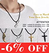 men leather cord chain necklace
