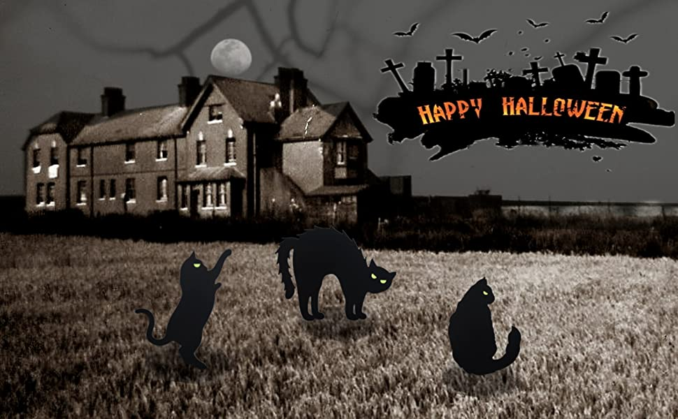 Halloween cat yard decor