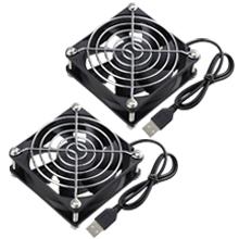 dual 80mm usb fans