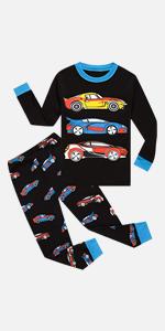 car pajamas for boys