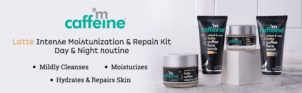 mCaffeine Latte Intense Moisturization & Repair Kit - Day & Night routine