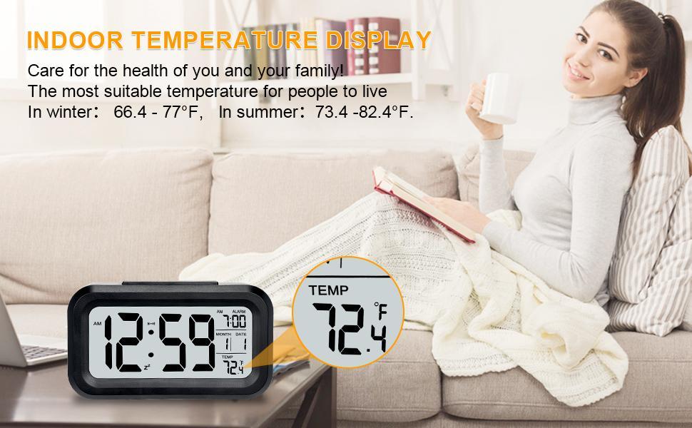 digital alarm clock BALCK
