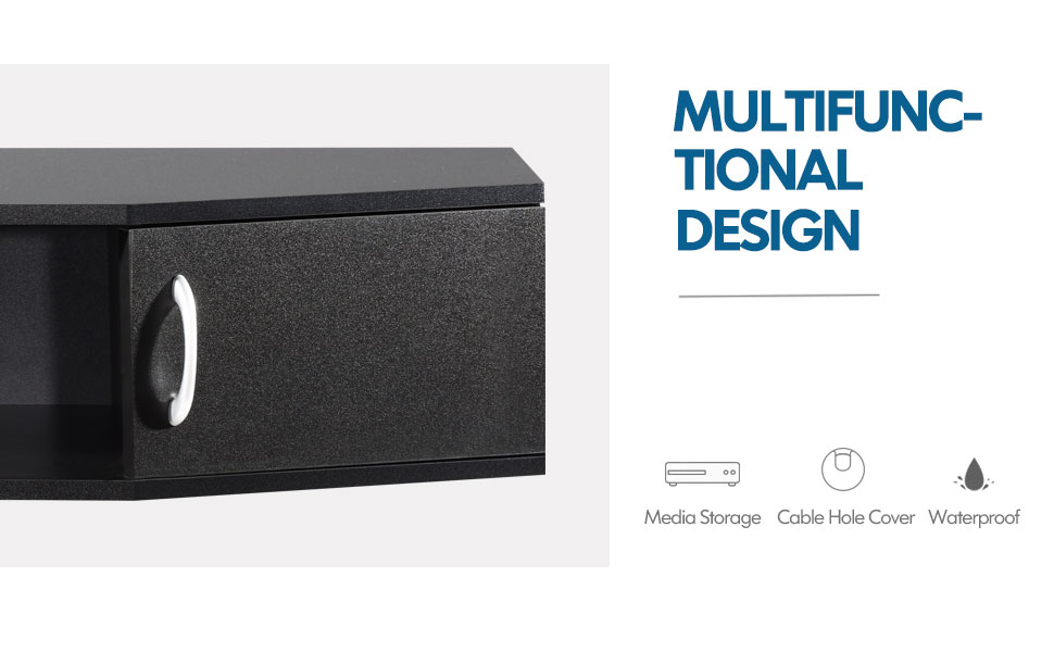 Floating TV Stand Entertainment Center wall mounted media console wall consoles audio video console