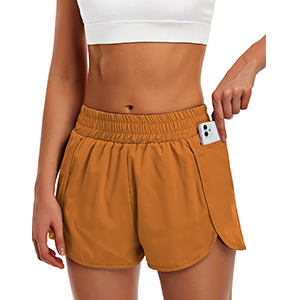 running shorts women with elastic waistband