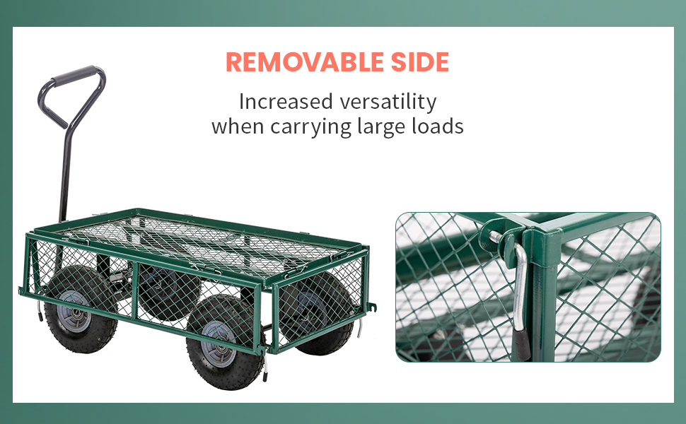 Gorilla Carts with Removable Sides