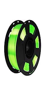 silk lime green pla filament