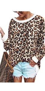 leopard print sweatshirts