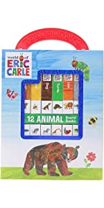 World of Eric Carle, My First Library Animal Board Book Block 12-Book Set
