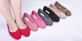 knit women flats shoes