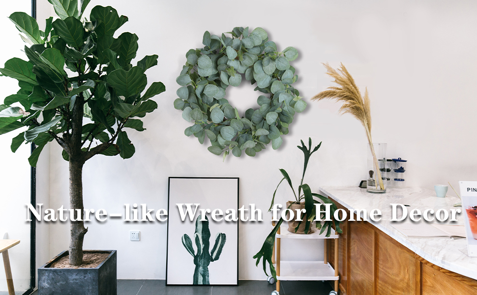 real touch floral wreath for door decor