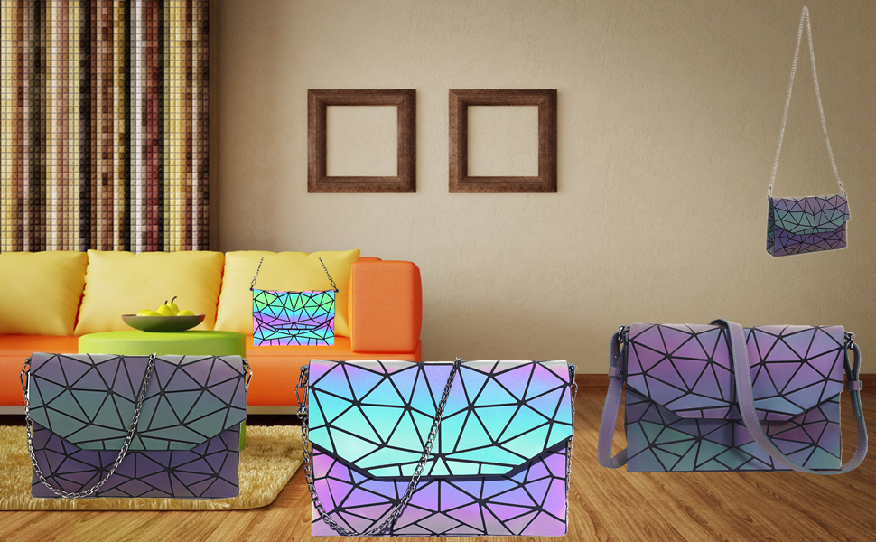 cute purses for women holographic purse geometric purse novelty purse bookbag purse for women