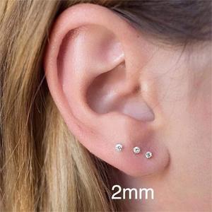 cubic zirconia stud earrings