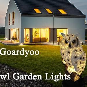 Goardyoo Owl Garden Lights
