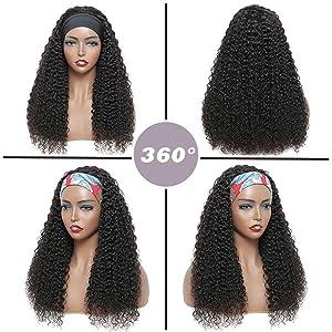 wig with headband