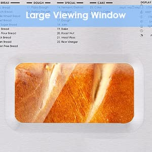 bread machine maker- large viewing window