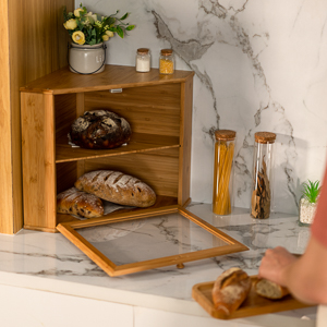 Corner Bread Box - Fit Your Corner Space on the Countertop