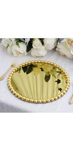 Pearl beaded Charger Plates