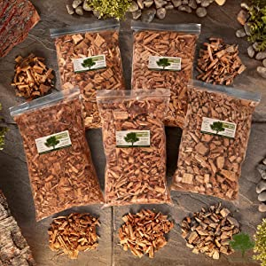 Selection of wood chip bags