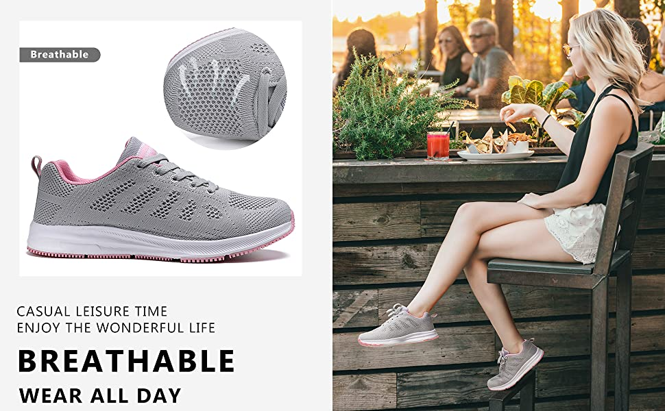 women fashion walking shoes comfort running sneakers casual gym athletic sports shoes size 8 9 10