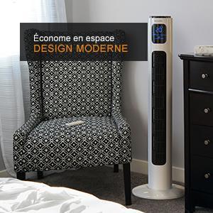 303087 ventilateur colonne 96 cm blanc