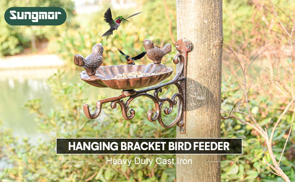 hanging bracket bird feeder