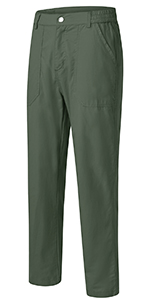 Womens Outdoor Casual Pants Wear-Resisting Quick Dry Lightweight Work Utility Zipper Straight Leg
