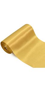 6 inch ribbon gold
