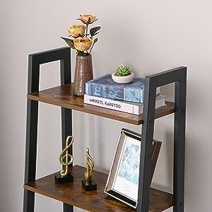 bookcase metal frame